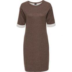 Sukienki: Sukienka bonprix brązowo-kremowy