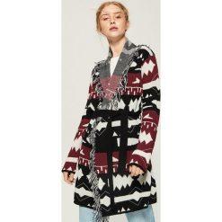 Swetry damskie: Kardigan z wiązaniem - Wielobarwn