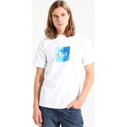 T-shirty męskie z nadrukiem: HUF BROADCAST BOX LOGO Tshirt z nadrukiem white