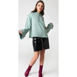 Bluzy damskie: NA-KD Basic Bluza z szerokim rękawem - Green