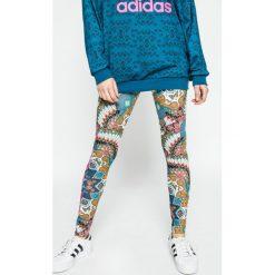 Adidas Originals - Legginsy Borbomix. Brązowe legginsy marki adidas Originals, z bawełny. W wyprzedaży za 129,90 zł.