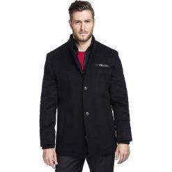 Kurtka CORRADO KUCR000057. Czarne kurtki męskie zimowe marki Giacomo Conti, m, z bawełny, z klasycznym kołnierzykiem. Za 699,00 zł.