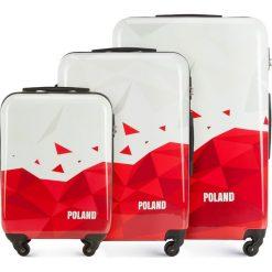 Zestaw walizek 56-3A-24S-TR. Białe walizki marki Wittchen, z gumy, małe. Za 564,51 zł.