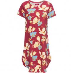 Sukienka shirtowa z nadrukiem, krótki rękaw bonprix czerwony wiśniowy z nadrukiem. Czerwone sukienki mini bonprix, z nadrukiem, z krótkim rękawem. Za 32,99 zł.