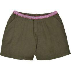 Spodenki dziewczęce: Szorty z ozdobnym paskiem z gazy bawełnianej 3-12 lat