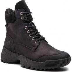 Trapery TAMARIS - 1-25710-31 Black 001. Szare buty zimowe damskie marki Tamaris, z materiału, na sznurówki. Za 349,90 zł.