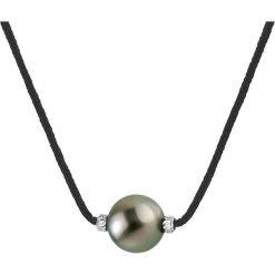 Naszyjniki damskie: Naszyjnik w kolorze czarnym z perłą – dł. 42 cm