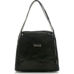 Torebki klasyczne damskie: Skórzana torebka w kolorze czarnym – (S)27 x (W)25 x (G)16 cm
