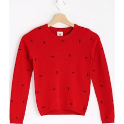 Czerwony Sweter Fancy Girl. Czerwone swetry chłopięce Born2be, z bawełny. Za 49,99 zł.