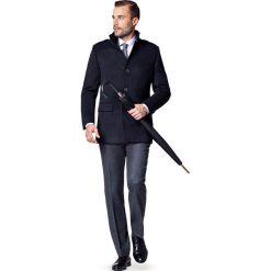 Kurtka Granatowa Cypriano. Czarne kurtki męskie zimowe marki LANCERTO, m, z syntetyku, eleganckie. W wyprzedaży za 349,90 zł.