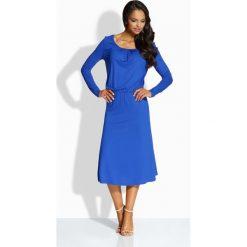 Zwiewna elegancka sukienka chabrowa AMBER. Niebieskie sukienki balowe Lemoniade. Za 69,00 zł.