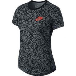 Nike Koszulka damska Run P W Palm Aop Tee grafitowa r. S  (739545 065). Szare topy sportowe damskie Nike, s. Za 84,97 zł.