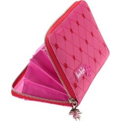 Portfele damskie: Portfel w kolorze różowym – 20 x 12 x 2,6 cm