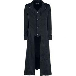 H&R London Black Classic Coat Płaszcz czarny. Czarne płaszcze na zamek męskie H&R London, xl, z aplikacjami. Za 304,90 zł.