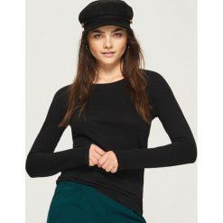 Bluzki damskie: Gładka bluzka - Czarny
