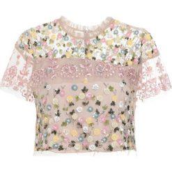 Bluzki asymetryczne: Needle & Thread TIERED ANGLAIS Bluzka petal pink