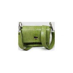 Torebki klasyczne damskie: Torebka zielony wąż