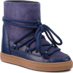 Buty INUIKII - Sneaker Classic 70203-5 D'Blue. Niebieskie buty zimowe damskie Inuikii, ze skóry, na niskim obcasie. Za 1129,00 zł.