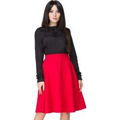 Czerwona Spódnica Klasyczna Midi z Koła. Czerwone spódnice wieczorowe Molly.pl, l, z tkaniny, midi, ołówkowe. Za 159,00 zł.