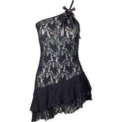 Koszulka nocna bonprix czarny. Czarne koszule nocne i halki bonprix, w koronkowe wzory, z koronki. Za 69,99 zł.