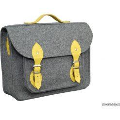 Torba na laptopa z żółtą skórą. Żółte torby na ramię męskie marki Pakamera, ze skóry. Za 113,00 zł.