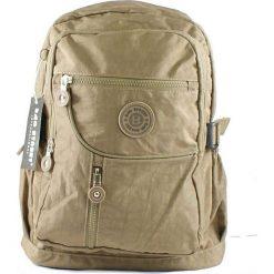Jasnobrązowy plecak w sportowym stylu. Brązowe plecaki damskie marki Bag Street, z materiału, sportowe. Za 64,90 zł.