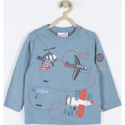 Koszulka. Niebieskie t-shirty chłopięce z długim rękawem FIND YOUR WINGS, z aplikacjami, z bawełny. Za 39,90 zł.