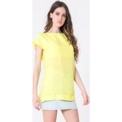 Bluzki damskie: Bluzka w kolorze żółtym