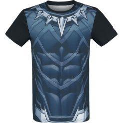 T-shirty męskie z nadrukiem: Black Panther Cosplay T-Shirt wielokolorowy