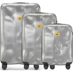 Walizki Icon w zestawie 3 el. srebrny. Szare walizki Crash Baggage, z materiału. Za 2628,00 zł.