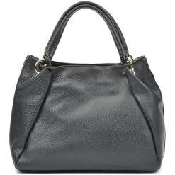 Torebki klasyczne damskie: Skórzana torebka w kolorze czarnym – (S)22 x (W)33 x (G)11 cm
