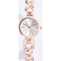 Zegarki damskie: Zegarek z ozdobną bransoletą - Wielobarwn