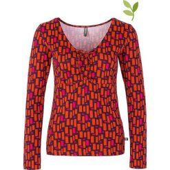 """Bluzki asymetryczne: Koszulka """"Olaia"""" w kolorze czerwono- różowym"""