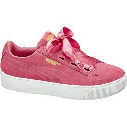 Buty sportowe damskie: buty damskie Puma Vikky Platform Ribbon Puma różowe