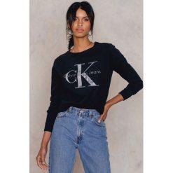 Bluzy damskie: Calvin Klein Bluza Harper True Icon Logo - Black