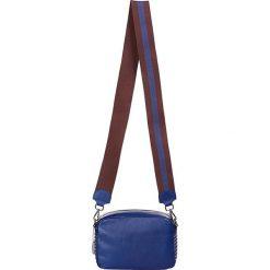 """Torebki klasyczne damskie: Skórzana torebka """"Marcy"""" w kolorze niebieskim - 22 x 14,5 x 9 cm"""