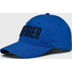 Tommy Hilfiger - Czapka. Niebieskie czapki z daszkiem męskie TOMMY HILFIGER, z bawełny. Za 179,90 zł.