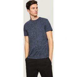 T-shirty męskie z nadrukiem: T-shirt z nadrukiem all over – Granatowy