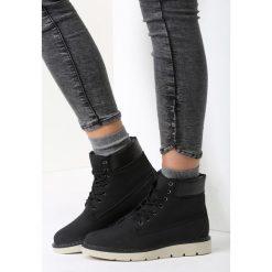 Czarne Traperki See For Miles. Brązowe buty zimowe damskie marki vices, z materiału, ze szpiczastym noskiem, na wysokim obcasie, na obcasie. Za 99,99 zł.