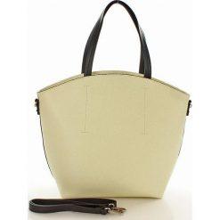 Kuferki damskie: Torebka skórzana shopper bag – BONITA beżowa