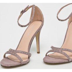 Answear - Sandały Ideal Shoes. Szare sandały damskie marki ANSWEAR, z gumy. W wyprzedaży za 99,90 zł.