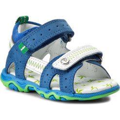 Sandały BARTEK - 11824-1NR Niebiesko Biały. Białe sandały męskie skórzane Bartek. W wyprzedaży za 129,00 zł.