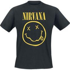 T-shirty męskie z nadrukiem: Nirvana Smiley T-Shirt czarny