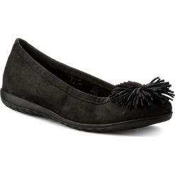 Baleriny CAPRICE - 9-22116-20 Black Nubuc 008. Czarne baleriny damskie Caprice, z nubiku. W wyprzedaży za 169,00 zł.