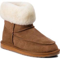 Buty EMU AUSTRALIA - Roma W11791 Chestnut. Brązowe buty zimowe damskie marki EMU Australia, ze skóry, na niskim obcasie. Za 649,00 zł.