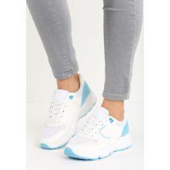 Buty sportowe damskie: Biało-Niebieskie Buty Sportowe Gymnast