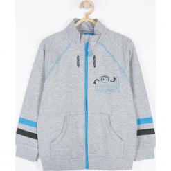 Bluza. Szare bluzy chłopięce rozpinane marki COOL ROBOTS, z aplikacjami, z bawełny. Za 75,90 zł.