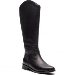 Oficerki KAZAR - Disa 34660-01-00 Black. Czarne buty zimowe damskie Kazar, ze skóry, przed kolano, na wysokim obcasie. Za 869,00 zł.