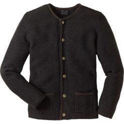 Swetry rozpinane męskie: Sweter rozpinany w ludowym stylu Regular Fit bonprix antracytowy melanż