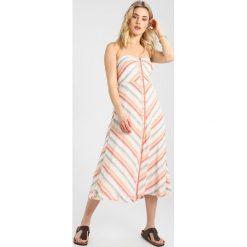 Free People STRIKING STRIPED MIDI Długa sukienka ivory. Białe długie sukienki marki Free People, z bawełny, z długim rękawem. Za 539,00 zł.